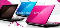 "free shipping lenovo z470 pink blue brown 14"" DVD supermulti Burner dual core i3-2300m 2GB 500GB windows7  female fashion laptop"