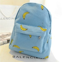 Banana Popsicles hands onion pattern canvas cute shoulder bag student backpacks schoolbags for girls kids leisure backpack women