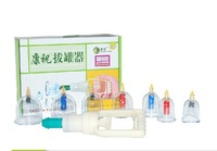 Thickening chinese hijama vacuum cupping device kangzhu  7 cuppings with retractable magneticneedle