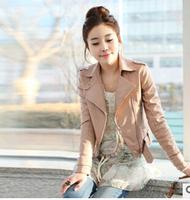 2014 autumn explosion models Korean ladies lapel Slim small leather