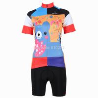 2014 New fashion Women's  Design Short Sleeve Cycling Jersey Shirt Set cycling clothing Bicycle Wear-S M L XL 2XL 3XL-Bear