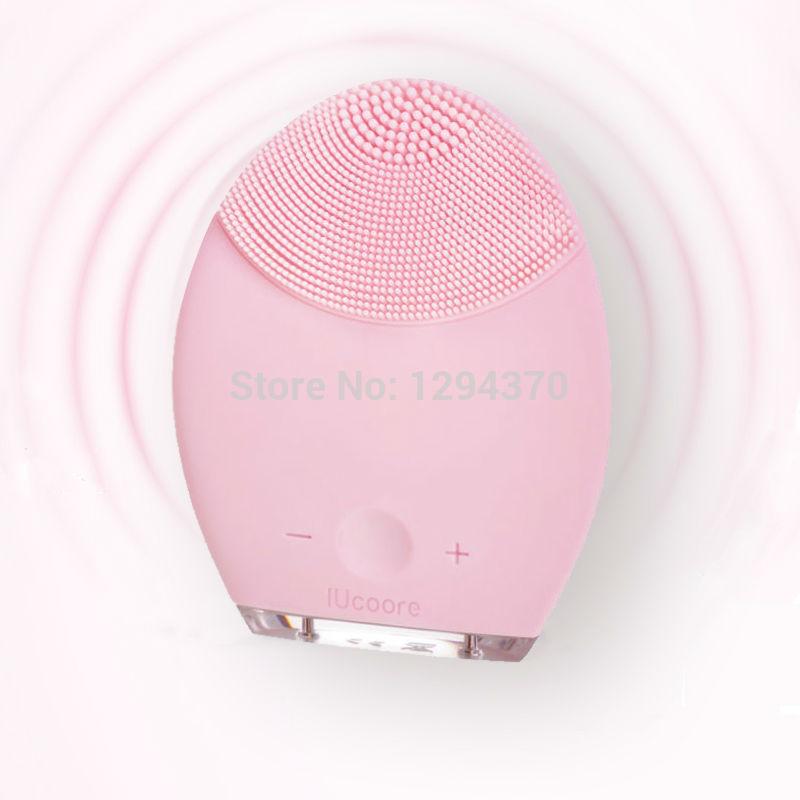 venda quente de silicone mini facial limpeza suave t- soni escova para sensível/pele normal(China (Mainland))
