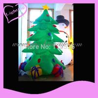 2014 Gus-LT-243  LED Fashion inflatable christmas decoration tree, decoration tree, christmas product ,inflatable tree