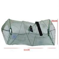 Hot Sale Foldable Crab Fish Crawdad Shrimp Minnow Fishing Bait Trap Cast Dip Net Cage Fishing Net Nylon
