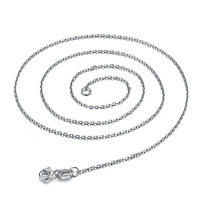 GNLT0158-16 Real 925 Sterling Silver chain platinum plated 16 inches 0.6mm thickness Rolo chain Fashion jewelry Free Shipping