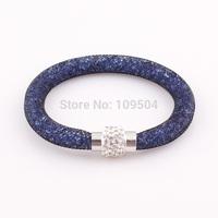 2014 NEW Bling Shamballa Rhinestone Magnetic Clasp Bracelet Wristband Disco Beads Mesh Bracelet Bangle ZB138