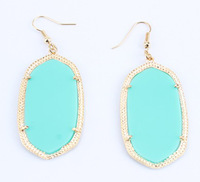 2014 Popular Kendr Turquoise Color Classic Drop Pendant Earring Scot Design