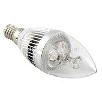 LED E14 Candle Light Lamps 3W candle bulb Warm white Natural white  Wholesale (6 pcs/ lot) Free Shipping