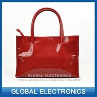 Vintage Simple PU Leather Bag Handbag Candy Color Fashion Lady Ladies Shoulder Bag Women's Messenger Bags Tote