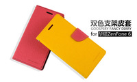 For Asus Zenfone 6 New Mercury Goospery Fancy Diary Case Contrast Color Wallet Stand Fashion Leather Case High Quality (HS003)