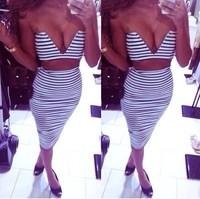 New deep V Dress 2 pcs women dress Sexy dress top selling Free Shipping