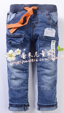 Retail 1pcs new cotton denim boys jeans brand children's long pants for 2-10 years kids boys pants Zar 2013(China (Mainland))