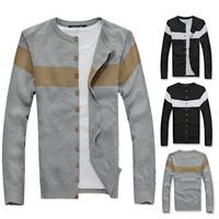2014 New Autumn Winter Men O-neck Sweaters Long sleeved fashion thin Cardigan sweater Man Slim Casual Knitwear Coats Hot!!