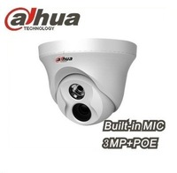 Dahua IPC-HDW4300C Built-in MIC IR HD 1080p IP Camera 3MP Full Network IR security cctv Dome Camera Support POE Free shipping