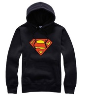 Free shipping Chinese size M--4XL 2014 new arrival supreman logo print hoodie clothing superman pullover hoodies 8 color
