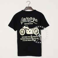 2014 New  T Shirt Short Sleeve Vintage Motorcycle printing men and women For Harley motorcycle style Summer