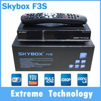 2pcs/lot  Original Skybox F3S Full 1080pi HD PVR Digital Satellite Receiver support usb wifi youtube youpron
