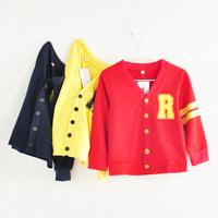 2014 autumn fashion preppy style male girls clothing baby cardigan full cotton-padded coat free shipping