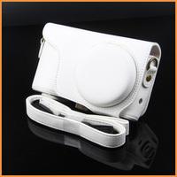 Free shipping white Leather Camera Case Bag For Samsung Galaxy Camera EK-GC100 GC100
