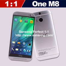 New One M8 1:1 Cell Phone 5.0inch 1280*720 IPS Screen Android4.4 MTK6582 Quad Core 2GB RAM 16G ROM For Original HTC one M8 Phone(China (Mainland))