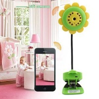 Support Video Record for Apple Android IOS Monitor Baby Flower WIFI Camera Baby Monitor Night Vision Function Built-in Mic