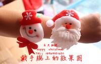 Free shipping lotte Christmas gift christmas bracelet pat circle snowman elk ring pops 12g