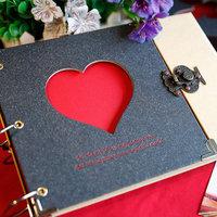 10inch Photo album diy handmade paste type gift cutout lovers baby photo album free shipping love album