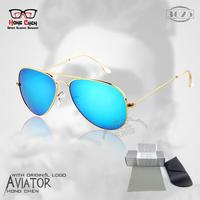 Hot Fashion Brand Men Women 3025 3026 Retro Sunglasses Vintage Sunglass Glass Lens and Original Box oculos de sol Free Shipping