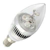 Wholesale lampada LED Candle light bulb lamp E14  3W   cle-lights warm white Natural white free shipping