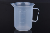 250ml Plastic Measuring Cup 71x91x67mm 23g PP Plastic Beaker Pitcher Counting Cup-Pack5