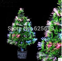 free shopping Christmas decoration 40cm colorful fiber optic Christmas tree fiber battery / Colorful Christmas