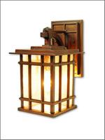 LED plaid lantern wall lamp outdoor retro wall lights chinese style lighting  balcony lamp e27 led bulb