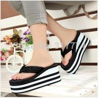 Summer casual super platform flip flops wedges slip-resistant slippers flip female sandals