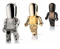 8G 16G 32G  Robot USB pendrive  Golden USB flash disk Silver thumb drive  Chrome black robot usb key