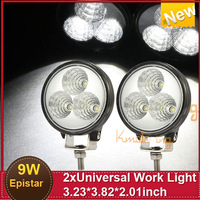 New Worklight 2x 9W 3*3 EpistarLeds Offroad Driving light  Truck Off-road vehicles 4x4 Military  Mining  Boating Farming