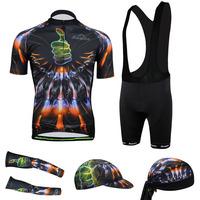 2014 Mens Thumbs Cycling Jersey Short Sleeve With bib shorts Cycling Clothing Bicycle cuff Full set  CC2004