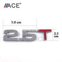 Universial Scratch Cover 3D Chrome Badge 3M Decal Car Logo Emblem 2.5T Number Letter Sticker Rustproof High Quality Metal Badge