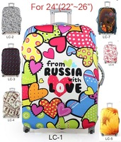 Free shipping luggage protective cover, luggage cover,stretchable, 24inch luggage cover, for 22 to 26inch cases,7 models