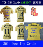 A+++ Thai Quality Mexico Club 14 15 America Jersey Soccer Home M LAYUN RAUL SAMBU L G REY R JIMENEZ 2015 Player Version
