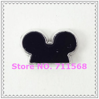 Mickey's Black Ears Floating Charms Mickey HeadCharm For Glass Floating Locket DIY Charms