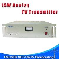 FMUSER FM-15T 15W TV Transmitter UHF/VHF Analog PAL/NTSC TV transmitter for TV Station
