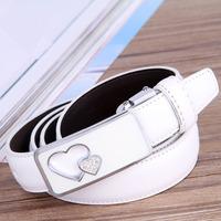 2014 new fashion Cowskin women's belt high quality deisgner belt for women free shipping