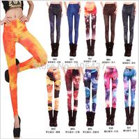 2014 New Women Sexy Galaxy Space Print Leggings Punk Clubwear Fashion Printed Gothic Pants Ladies free shipping