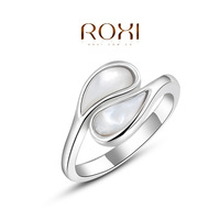 Rings For Rings For Women Roxi Christmas Gift Classic Genuine Austrian Crystals Fashion Kiss Fish Ring 100% Man-made Big Off