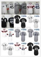 Cheap 2014 Chicago White Sox #45 Michael Jordan 49 Chris Sale 79 Jose Abreu 14 Konerko 35 Frank Thomas Baseball Jersey,Mix Order
