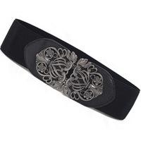 2014 Hot Selling Retro Fashion Women Waist Bands Elastic Carving Decoration Cummerbunds Ladies Belts Free Shipping