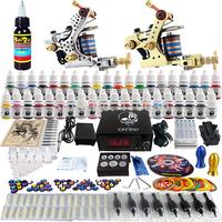 Wholesale - Complete Tattoo Kit 2 Pro Rotary Machine Guns 40 Inks Power Supply Needle Grips TK228