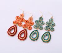 2014 New Style Luxury Statement Vintage Bohemian Water Drop Earrings Women Fashion Big Brand Earring Jewelry Accessorie 2 color