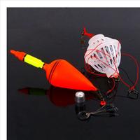 2014 New 1 set FREE SHIPPING Explosion Hook Dual Fishing Buoys + Bait Cages Hooks Set