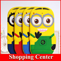 Freeshipping New HOT Silicone rubber Cartoon despicable me 3D case cover for ipad 2 3 4 Dropshipping